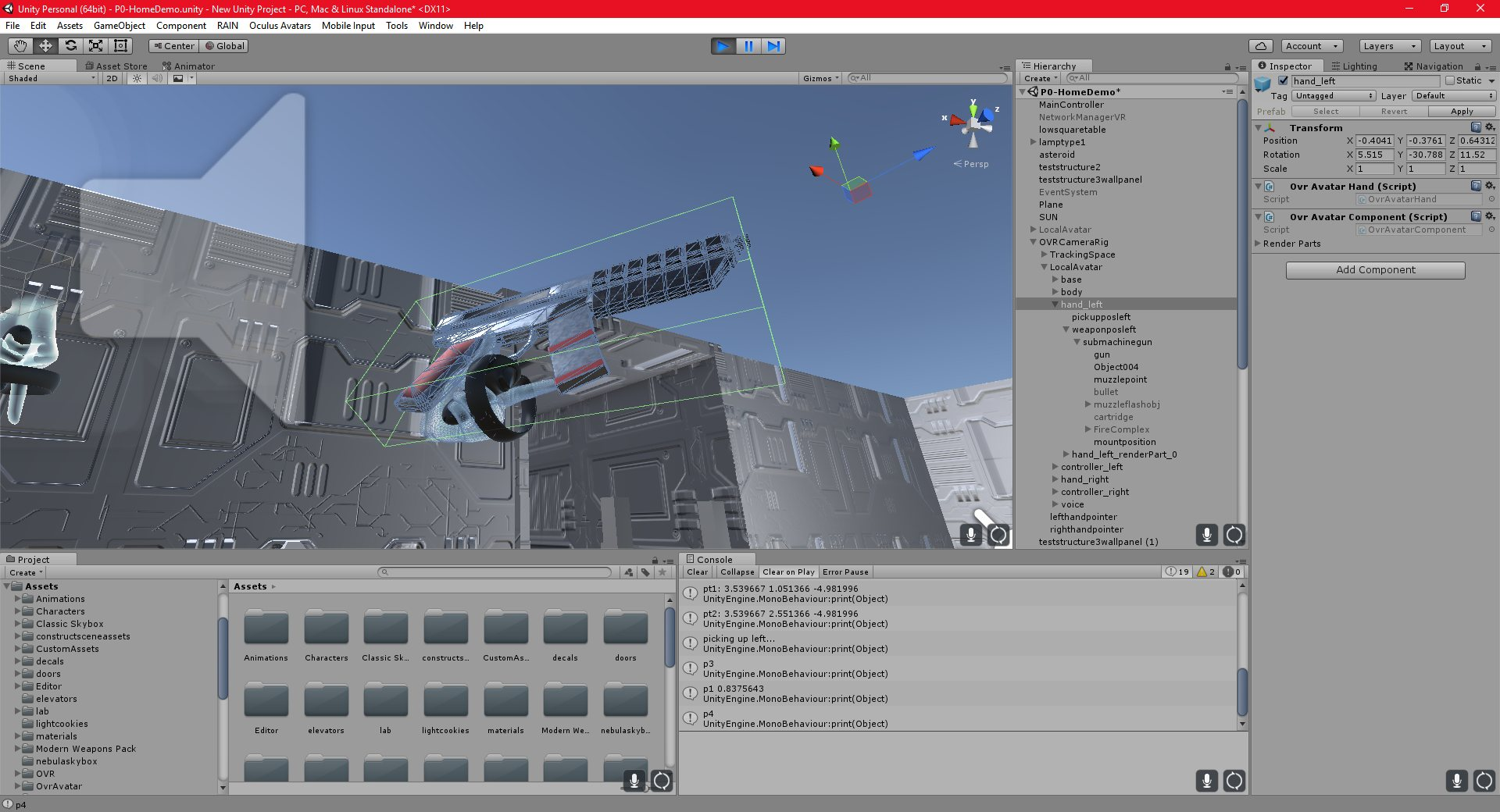 Unity Oculus Controller Position