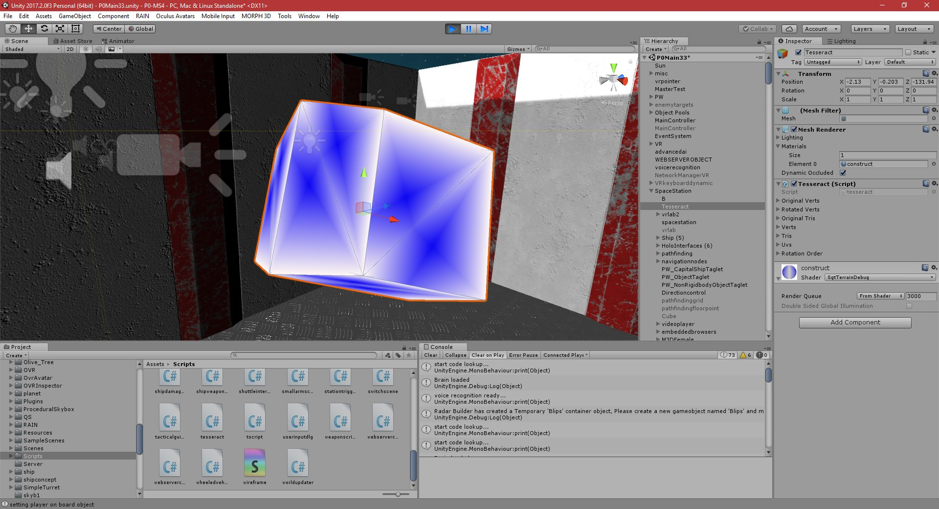 P0-MS5: Part 303: Creating a Tesseract in Unity - PGD Home